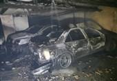 آتشسوزی شدید در ساختمان 35 واحدی/ 4 خودرو در آتش سوخت + تصاویر
