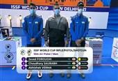 جامجهانی تیراندازی  جواد فروغی مدال طلای تپانچه بادی جهان را بر گردن آویخت