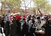 بدرقه شهید مدافع امنیت در اصفهان / پیکر شهید اللهوردی به بروجن منتقل شد