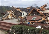 """مرگ 5 آمریکایی و قطعی برق 16000 خانه بر اثر گردباد در """"آلاباما"""" + تصاویر"""