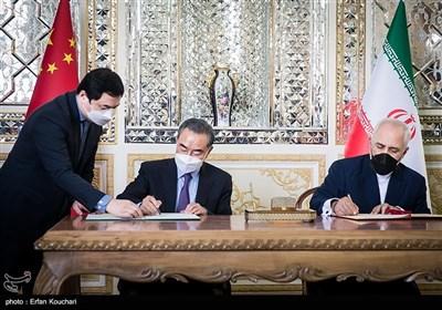 امضای سند جامع همکاری های 25 ساله توسط وزیران امور خارجه ایران و چین