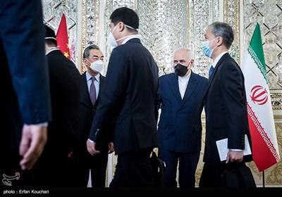 دیدار وانگ ئی، وزیر امور خارجه چین با محمدجواد ظریف وزیر امور خارجه ایران