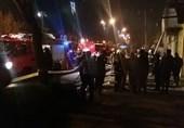 آتشسوزی هولناک در انبار روغن موتور ماشین در زنجان
