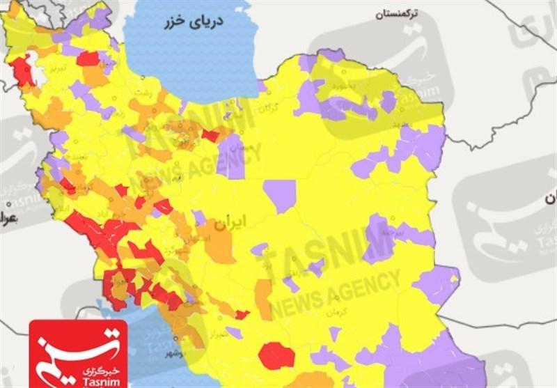 جدیدترین رنگبندی کرونایی در ایران| مازندران به سمت بحرانی شدن/ 25 استان کشور در وضعیت هشدار قرار دارند + نقشه و نمودار