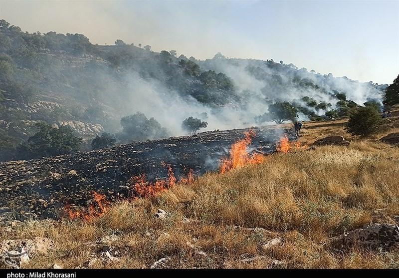 ارتفاعات کوهمره سرخی میمند 5 روز در آتش غفلت سوخت