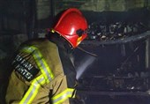آتشسوزی مرگبار در ساختمان در حال احداث + تصاویر