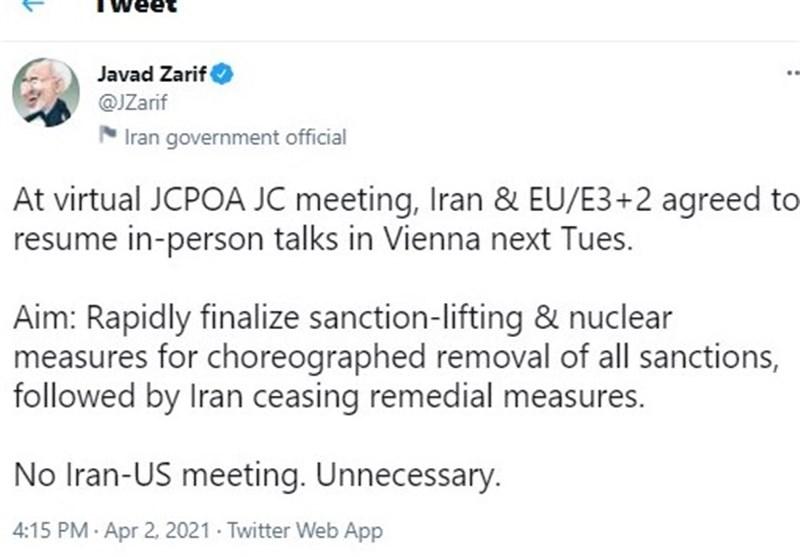 ظریف: ایران و آمریکا دیداری نخواهند داشت
