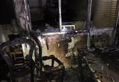 خاکستر شدن منزل مسکونی بر اثر آتشسوزی + تصاویر