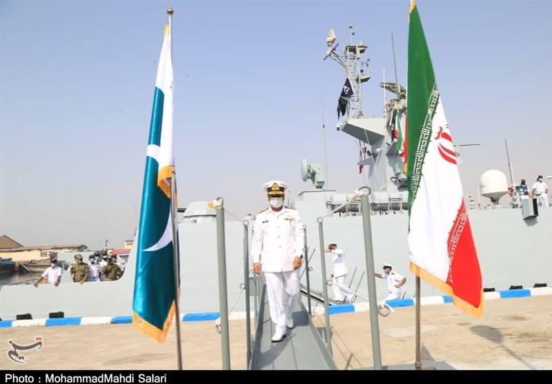 فرمانده ناوگروه پاکستان: ارتقای روابط نظامی ایران و پاکستان مهمترین عامل اعزام ناوگروه است + فیلم