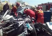 2 کشته و یک مصدوم بر اثر تصادف شدید سوزوکی با ایسوزو + تصاویر