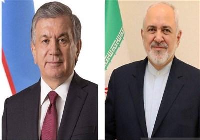 ظریف با رئیسجمهور ازبکستان دیدار کرد