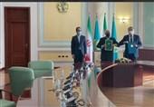 ایران وکازاخستان توقعان وثیقة للتعاون بین وزارتی الخارجیة