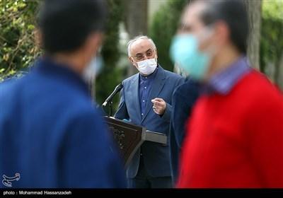 علیاکبر صالحی رئیس سازمان انرژی اتمی در حاشیه جلسه هیئت دولت