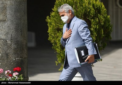 محمدباقر نوبخت رئیس سازمان برنامه و بودجه در حاشیه جلسه هیئت دولت