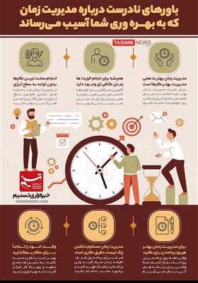 اینفوگرافیک/ 11 باور نادرست درباره مدیریت زمان که به بهره وری شما آسیب میرساند