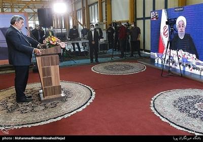 ارتباط ویدئو کنفرانسی دکتر روحانی رییس جمهور با مراسم رونمایی از نخستین نمونه قطار ملی مترو