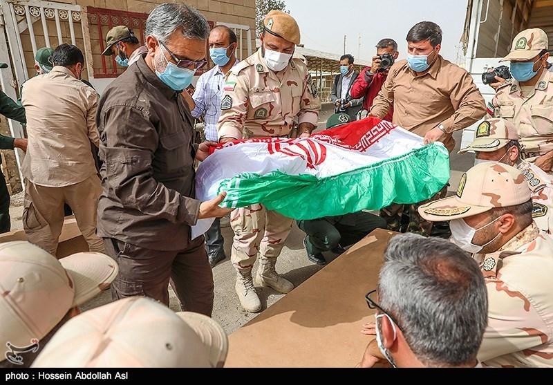 ورود پیکر 63 شهید تازه تفحص شده دفاع مقدس از مرز شلمچه