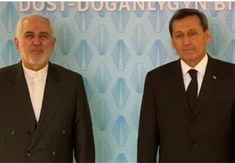 گفتگوی ظریف با وزیر خارجه ترکمنستان