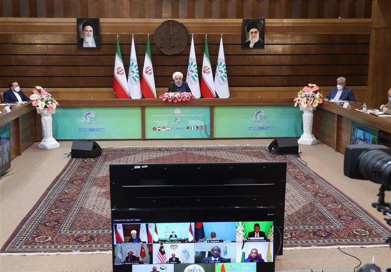 روحانی در اجلاس دی8: تقویت چند جانبهگرایی از اولویتهای مهم سیاست خارجی ایران است