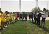 معارفه محمود فکری در تمرین نفت مسجدسلیمان