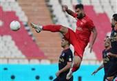لیگ برتر فوتبال  پیروزی یک نیمهای پرسپولیس مقابل نساجی