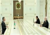 ظریف با رئیسجمهور ترکمنستان دیدار کرد