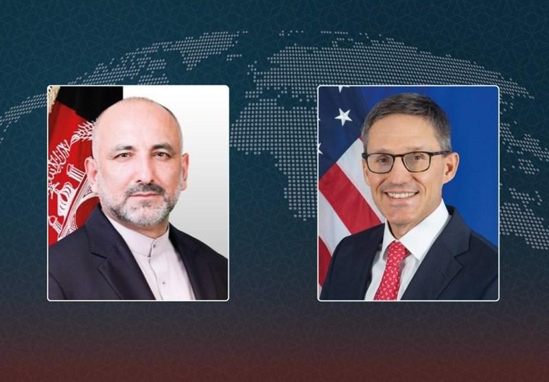 تبادلنظر وزیر خارجه افغانستان با مشاور «بلینکن» درباره طرح صلح اشرف غنی