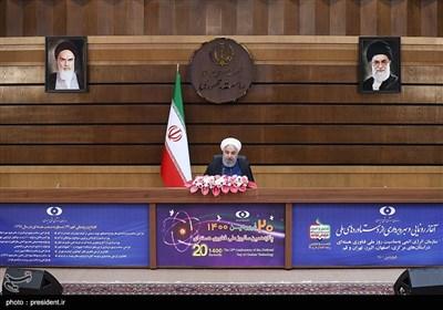 رونمایی و بازدید رئیس جمهور از نمایشگاه دستاوردهای سازمان انرژی اتمی ایران