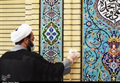 غبارروبی و عطرافشانی مساجد شهرکرد به روایت تصویر