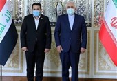 ظریف : إیران ترحب بدور العراق البناء فی العلاقات الإقلیمیة / یجب على القوات الأجنبیة أن تغادر المنطقة