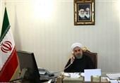 روحانی فی اتصال مع أمیر قطر: عسکرة المنطقة لا یمکن أن تحل المشاکل