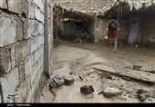 آبگرفتگی منازل روستایی پشوئیه شهداد + فیلم