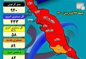 بیماران کرونایی بوشهر 433 تخت بستری بیمارستانها را اشغال کردند