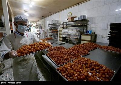 کارگاه پخت زولبیا بامیه در اصفهان