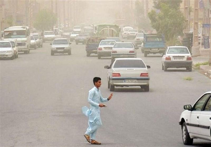 قرارگیری وضعیت هوای زابل در شرایط ناسالم