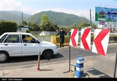 کنترل تردد پلاک غیربومی توسط پلیس راه چابکسر گیلان