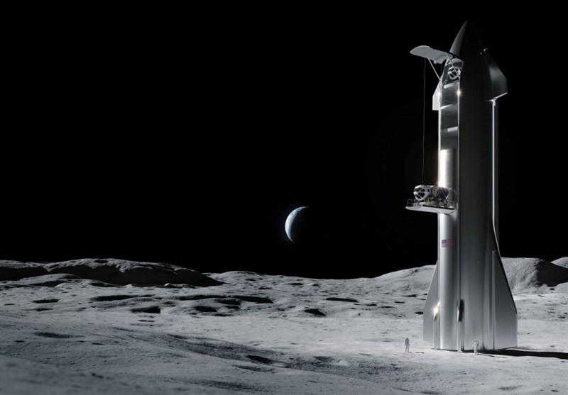 """قرارداد 2.89 میلیارد دلاری """"اسپیسایکس"""" با ناسا برای فرود فضانوردان بر ماه"""
