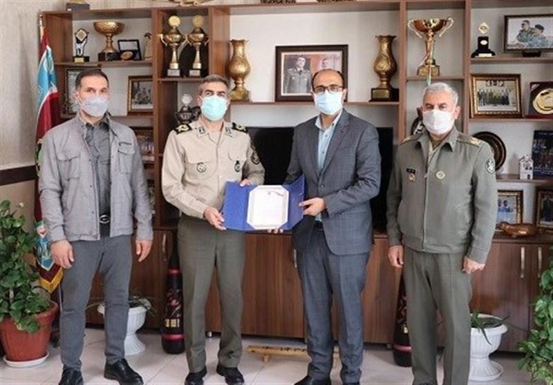 دیدار صدیقی با رئیس تربیت بدنی ارتش