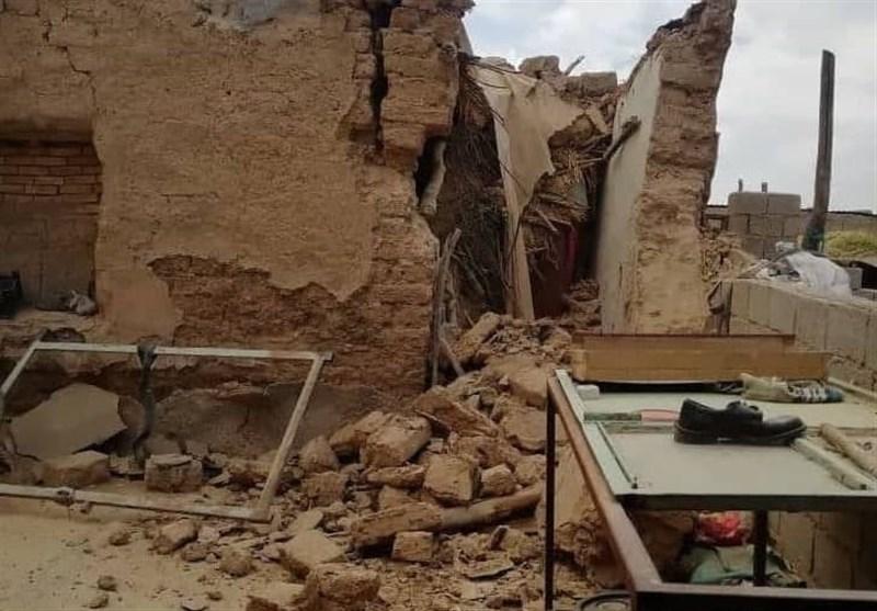 خسارت زلزله 5.9 ریشتری به واحدهای مسکونی گناوه + فیلم
