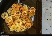 کارگاه پخت زولبیا و بامیه در بجنورد به روایت تصاویر
