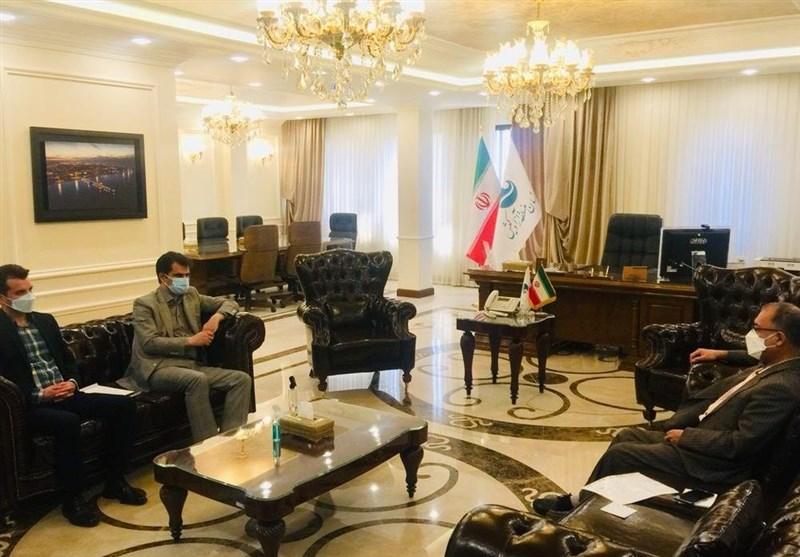 جلسه رئیس و دبیر فدراسیون گلف با سرپرست منطقه آزاد کیش