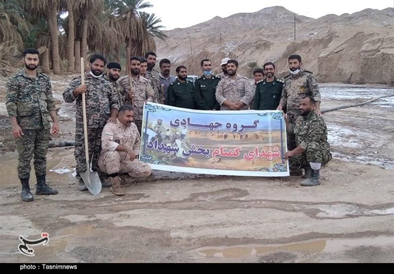 استان کرمان , سیل , سیل زده , گروههای جهادی ,