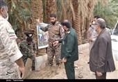 بازدید فرمانده سپاه استان کرمان از فعالیت گروههای جهادی در پشوئیه + تصاویر