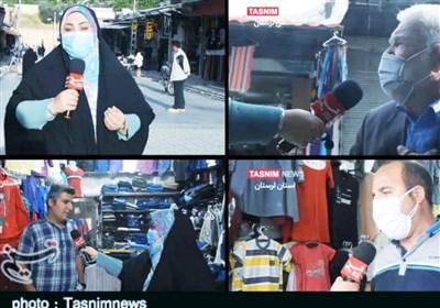 گزارش ویدیویی تسنیم از بازار خرمآباد در روزهای قرمز کرونایی؛ اینجا محدودیتها اجرا نمیشود