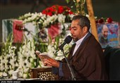 قرائت دعای ابوحمزه ثمالی بر پیکر شهید حجازی در اصفهان به روایت تصویر