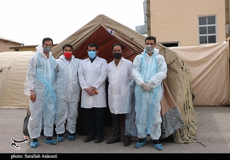 آمادگی ارتش برای کمک به بحران کرونا در استان کرمان+تصاویر