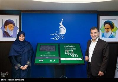 اکبر نصراللهی و فرزانه شریفی مولف کتاب دیپلماسی بازی های دیجیتال