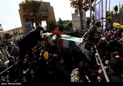 مراسم تشییع جثمان نائب قائد فیلق القدس التابع لحرس الثورة
