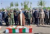 وداع با سردار فاتح نبل و الزهرا در رشت / پیکر سردار حقبین به زادگاهش منتقل شد