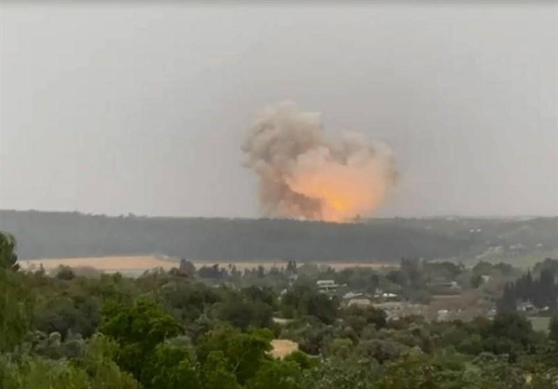 انفجار مهیب در کارخانه صنایع موشکی رژیم صهیونیستی+ فیلم
